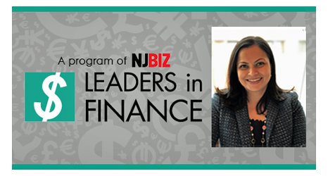 "Shavi Gupta CFO of Inpensa profile picture on an image with NJBiz logo with text saying ""leaders in finance"""